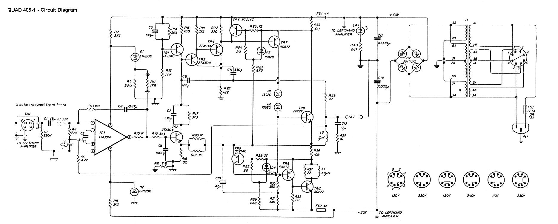 Circuit Dias Low Noise Equalizer Amplifier Complete Diagram