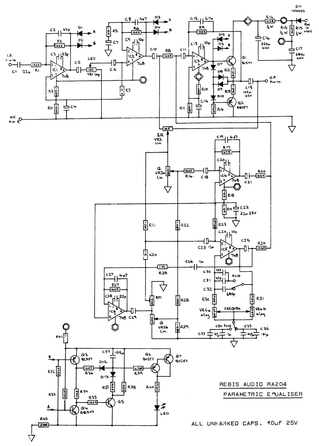 rebis audio ra204 parametric eq cct circuit dia's fordson dexta wiring diagram at edmiracle.co