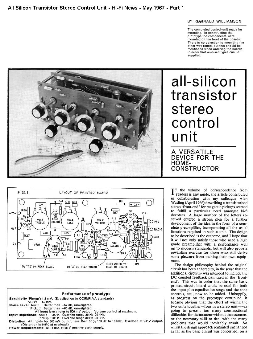 Hi Fi Diy Projects The Original Williamson Hifi Amplifier Schematic As Published In Project Part 1
